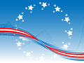 Patriotic background vector illustration of Stock Photography