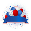 Patriotic banner with balloons Stock Photo