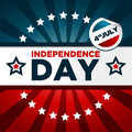 Patriotic banner with stars for independence day Stock Photography