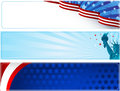 Patriotic banners set of three Stock Photography