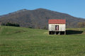 Patriotic Barn Landscape Royalty Free Stock Photo