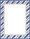 Patriotic border Royalty Free Stock Photo