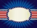 Patriotic border background Royalty Free Stock Photo