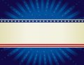Patriotic border background Royalty Free Stock Photo
