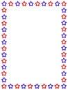Patriotic border USA Royalty Free Stock Photo