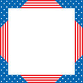 Patriotic border Royalty Free Stock Photo