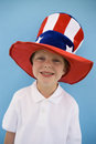 Patriotic Boy Stock Photography
