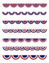 Patriotic bunting Royalty Free Stock Photo