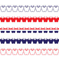 Patriotic butterfly borders a set of style Royalty Free Stock Photography