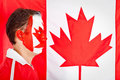 Patriotic Canadian man Royalty Free Stock Photos