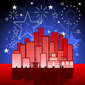 Patriotic city Royalty Free Stock Photos