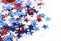 Patriotic confetti Royalty Free Stock Image