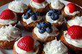 Patriotic cupcakes Royalty Free Stock Photo
