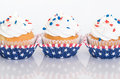 Patriotic cupcakes with sprinkles Royalty Free Stock Photo