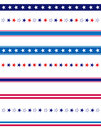 Patriotic divider border Stock Photography
