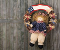 Patriotic Doll Wreath Royalty Free Stock Image