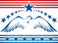 Patriotic eagle banner illustration with stars and stripes graphic Stock Photography