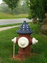 Patriotic Fire Hydrant Royalty Free Stock Image