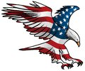 Patriotic Flying American Flag Eagle Vector Illustration Royalty Free Stock Photo