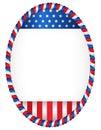 Patriotic frame Royalty Free Stock Photo