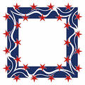 Patriotic frame - square Royalty Free Stock Photo