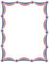 Patriotic garland border Stock Photo