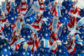 Patriotic Hershey Chocolate Kisses Royalty Free Stock Photo