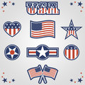 Patriotic Icons Royalty Free Stock Photo
