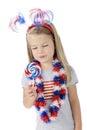 Patriotic Lollipop Royalty Free Stock Photo