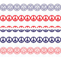 Patriotic peace sign borders a set of style Royalty Free Stock Photos