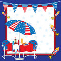 Patriotic Picnic Invitation Royalty Free Stock Photography
