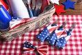 Patriotic Picnic Table Still Life