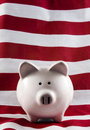 Patriotic Piggy Bank 4151 Royalty Free Stock Photography