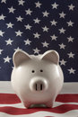 Patriotic Piggy Bank 4152 Stock Photo