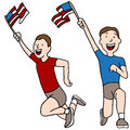 Patriotic runners an image of Stock Image