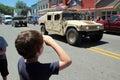 Patriotic Saluting Child Royalty Free Stock Photo