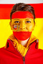 Patriotic Spanish woman Stock Image