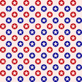 Patriotic star dots pattern background detailed illustration of a dotted Stock Photography