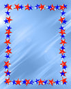 Patriotic Stars Frame Border Royalty Free Stock Photos