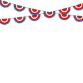 Patriotic symbolic decoration for holiday Usa. National flag col Royalty Free Stock Photo
