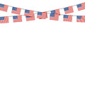 Patriotic symbolic decoration for holiday Usa. National flag Uni Royalty Free Stock Photo