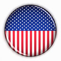 Patriotic USA button Stock Photo