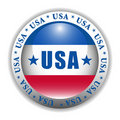 Patriotic USA Button Royalty Free Stock Photo