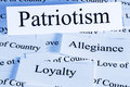 Patriotism concept a conceprual look at love of one s country Stock Image