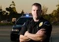 Patrol cop Royalty Free Stock Photo