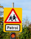 Patrol Street Sign Stock Images