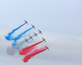 The Patrouille de France at Duxford Royalty Free Stock Photo