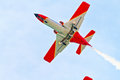 Patrulla aguila cadiz spain sep aircrafts of the taking part in an exhibition on the th airshow of cadiz on sep in cadiz spain Royalty Free Stock Photos