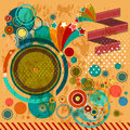 Patry retro design party colorful style Royalty Free Stock Images