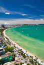Pattaya beach and city  bird eye view Stock Photography